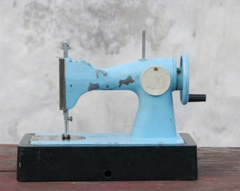 Vintage Pastel Blue Soviet Toy Sewing Machine - Children Sewing Machine - Soviet Vintage - USSR