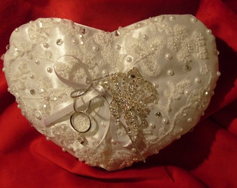 Wedding Ring Bearer Pillow Ring Cushion Wedding Accessories Ring Holder Flower Girl Ring Pillow Wedding Ring Bearer