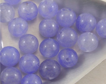 Semi Precious Dyed Adventurine beads- 8mm smooth round-Lavender.Lilac,purple-Qty 20 (MW 8R L)