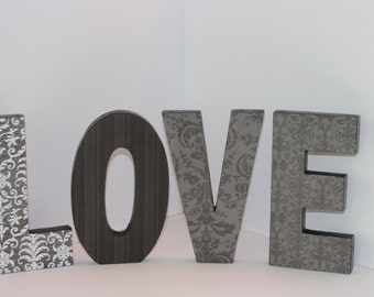 Love Free Standing Custom Wood Letters