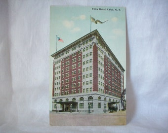 Antique Utica Hotel Postcard, Utica, NY,  Posted 1912, One Cent Stamp