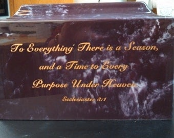 Merlot Marble Cremation Urn with Personalization