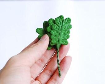 Paper Flower, 50 Fern leaves, Handmade. Green color.