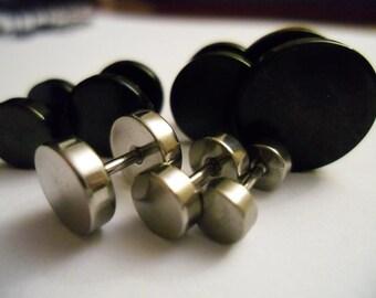 Fake plug black and silver - 2 pairs