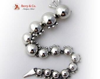 Vintage Sterling Silver Caterpillar Pin Brooch