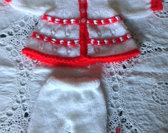 REDUCED PRICE Red & White Dolls Oufit