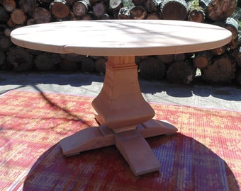 Pedestal Table, Round Table, Dining Table, Farmhouse Table, Handmade Table, Reclaimed Wood Table, Rustic Table, Salvaged Wood, Howard Style