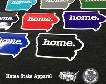 Iowa Home. Colored Vinyl Sticker