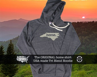 Tri Blend Pull Over Hoodie North Carolina Home Sweatshirt