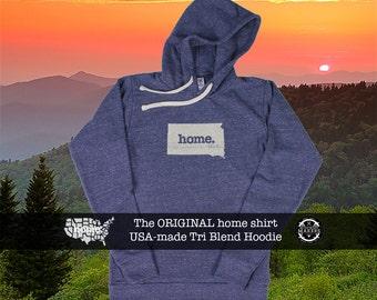 Tri Blend Pull Over Hoodie South Dakota Home Sweatshirt