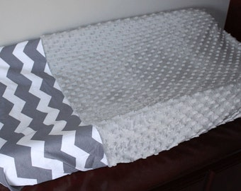 Custom Grey Changing Pad Cover