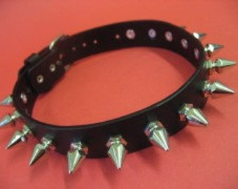 Silver Metal Spike Choker 19