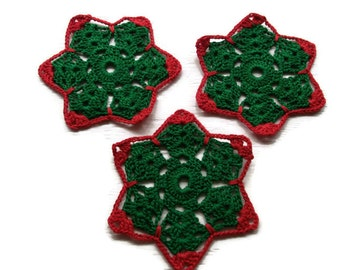 coasters in Red & Green Christmas colors