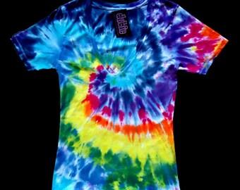 Spiral V Neck Jr.Tie Dye Shirt 7 oz