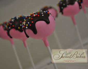 Custom chocolate drip and sprinkles design cake pops