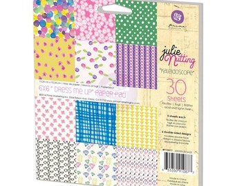"Prima Julie Nutting  ""Dress Me Up"" 6x6 Paper Pad Kaleidoscope 910877"