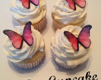 Pink Ombre Edible Butterflies -12