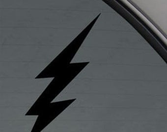 "LIGHTNING BOLT  6"" Vinyl Decal Window Sticker for Car, Truck, Motorcycle, Laptop, Ipad, Window, Wall, ETC"