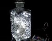 Upcycled Decanter Bottle Glass Light Lamp (White LEDs) GIFT