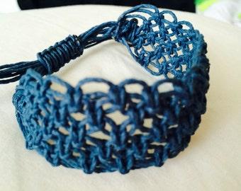 Cuff Bracelet Dark Blue, Adjustable