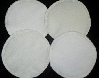 Raw Silk/Organic Bamboo Cotton, Reversible, Reusable Nursing Pads - 2 sets - AUSTRALIAN MADE