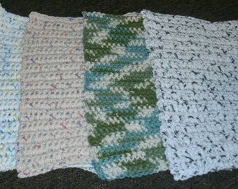 Hand crocheted dishcloths