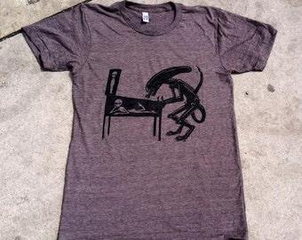 Alien Playing Alien Pinball T Shirt