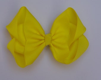 Neon Yellow Large Boutique Bow Girls Big Hair Bow Girls Bow Jumbo Bow Neon Yellow Hair Bow