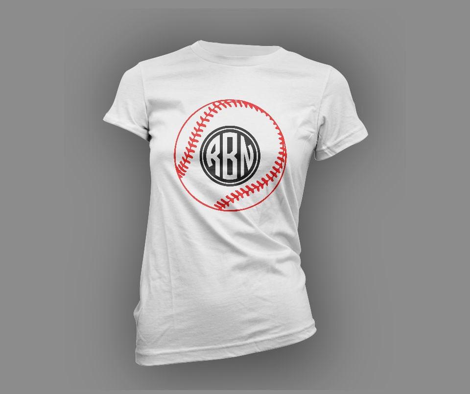 Baseball Monogram T Shirt By Sportzcrazymama On Etsy