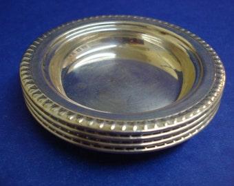 Elegant STERLING COASTERS - Sterling  Silver Coasters  - by International Sterling  - Set of 4