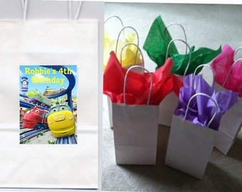 Chuggington party favor goody bags personalized set of 10