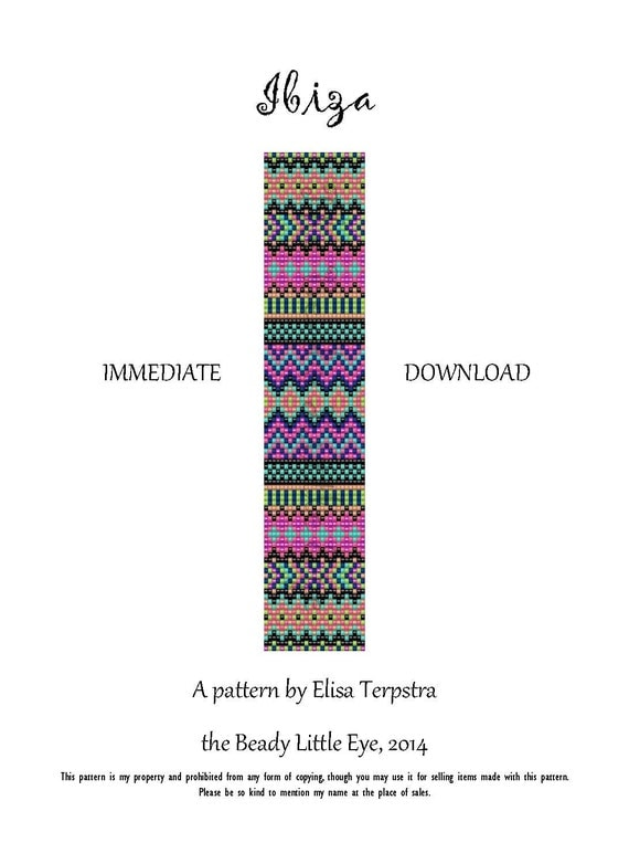 bead loom pattern seed bead loom patterns by thebeadylittleeye