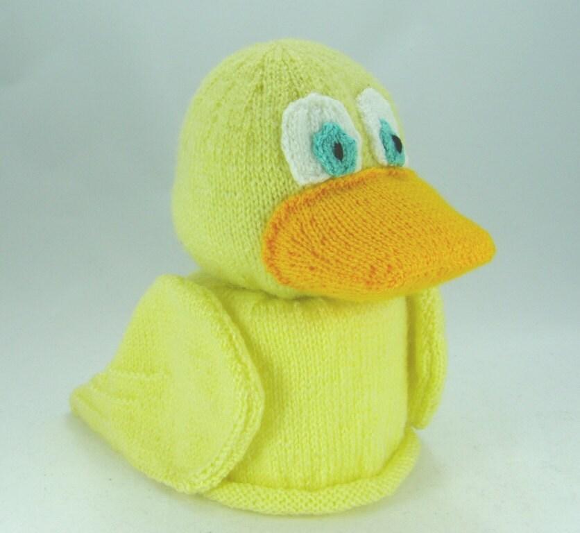 KNITTING PATTERN Duck Toilet Roll Cover Knitting Pattern