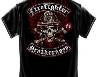 Firefighter Biker Cross Bones T-Shirt SKU: FF2144