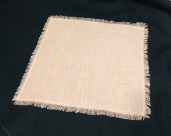 Fringed or Finished Edge Rustic Weight French Linen TableCloth  54 x 54
