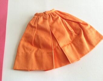 Vintage Barbie Fashion Pak Orange Gathered Skirt