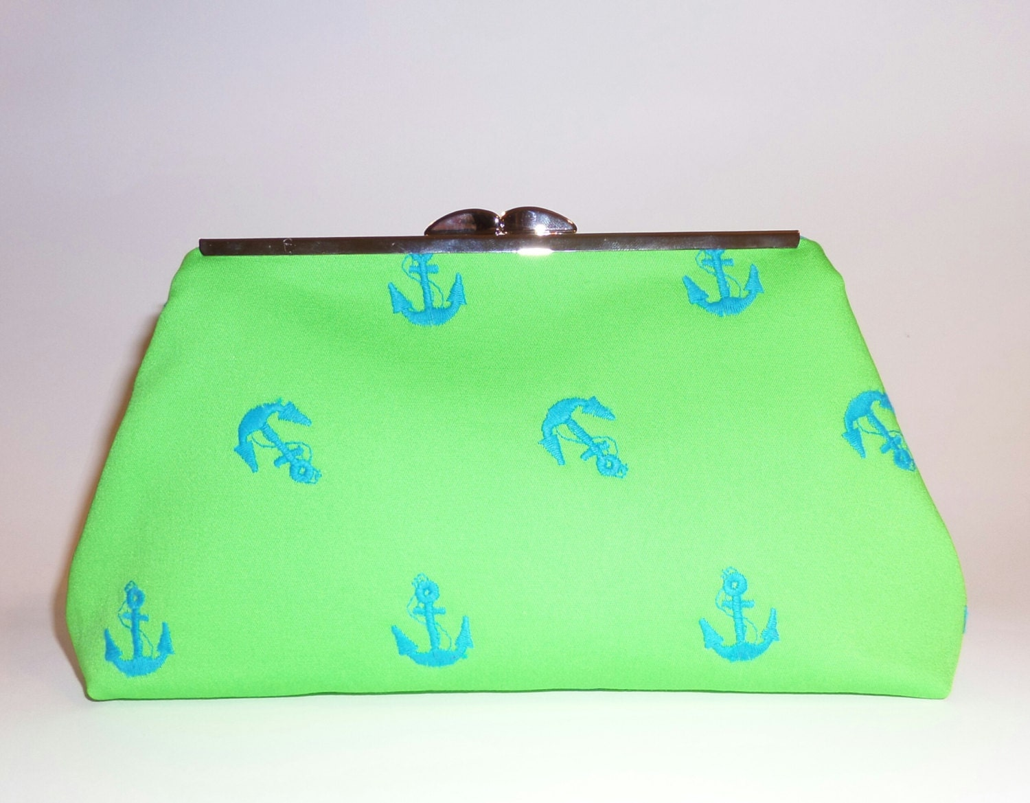 fun colors nautical theme clutch