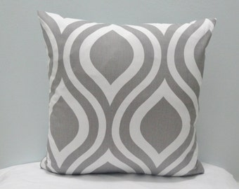 """Premier Prints Emily Twill Storm, Gray and White PillowCase, Lumbar Pillow Cover, Sham, 18x18"""" and more"""