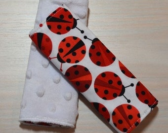 Car Seat Strap Covers - Ladybugs