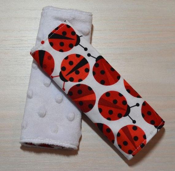 car seat strap covers ladybugs. Black Bedroom Furniture Sets. Home Design Ideas