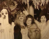 Creepy Spooky Creepers Vintage Halloween Photo Ugly Scary Costumes Hidden Man