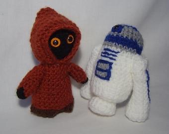 Jawa or ewok Star Wars inspired crochet character