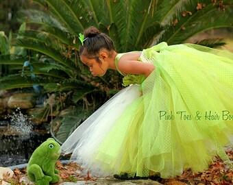 Princess Tiana Dress- Princess and the frog costume- Princess Tiana  tutu dress
