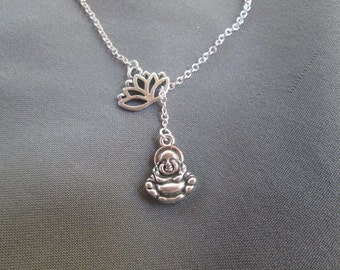 Lotus Buddha Necklace - Lariat Style