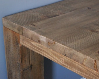 Farmhouse Style, Parsons Table, Solid Wood Table,  Reclaimed Table, Table,  Reclaimed