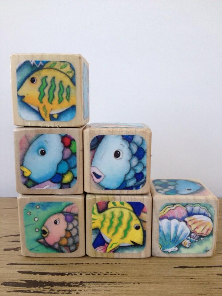 Rainbow fish childrens book blocks by storybookblocks for Rainbow fish children s book