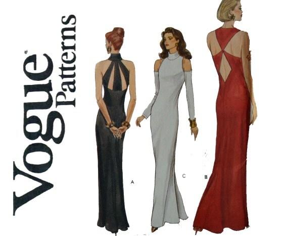 Maxi Dress Cutting Pattern Vogue Dress Pattern Cut