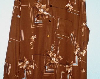 "1970s ""Manchester Shirt Co./California"" Mens Disco Shirt — Size M"