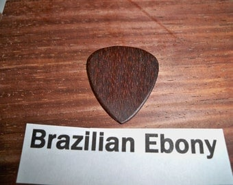 Brazilian Ebony wood guitar pick