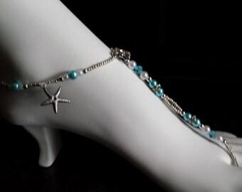 Beach Starfish Wedding foot jewelry
